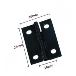 60 x Mini schwarzes Eisenscharnier (16mm x 24mm)