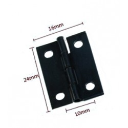 60 x Mini zwart ijzeren scharnier (16mm x 24mm)