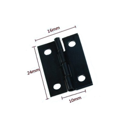 Mini black iron hinge (16mm x 24mm)