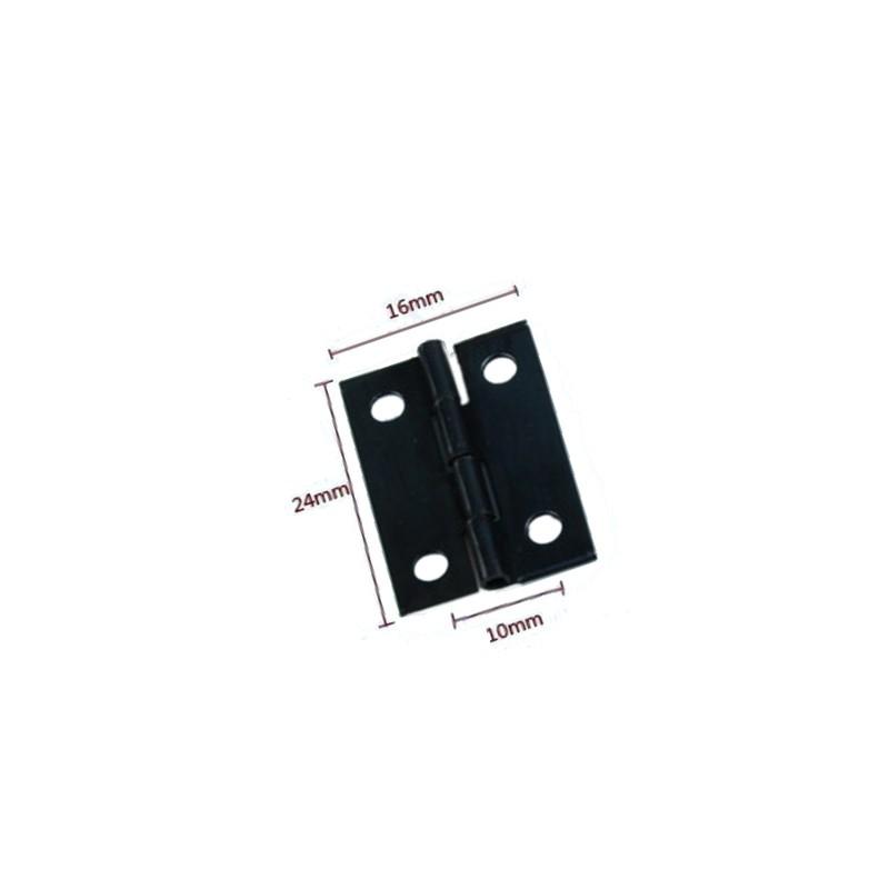 Mini schwarzes Eisenscharnier (16mm x 24mm)