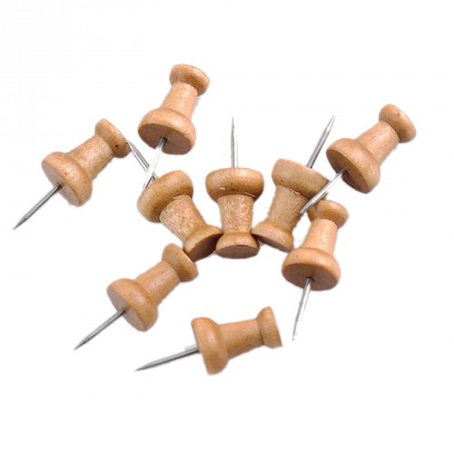 Wooden push pin