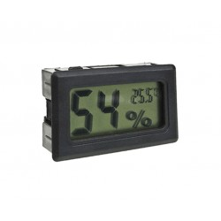 LCD indoor temp. and humidity meter black