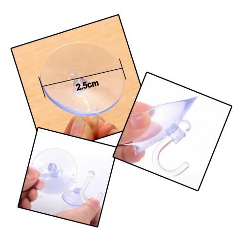 Rubber zuignap met haakje (klein, 25 mm)