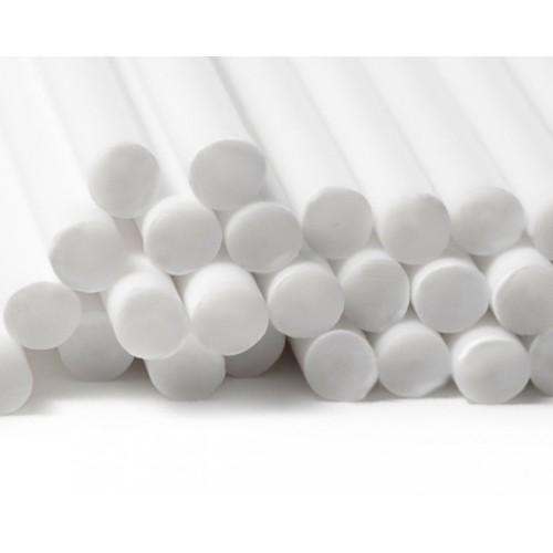 Plastic stokjes wit (5 x 230mm)