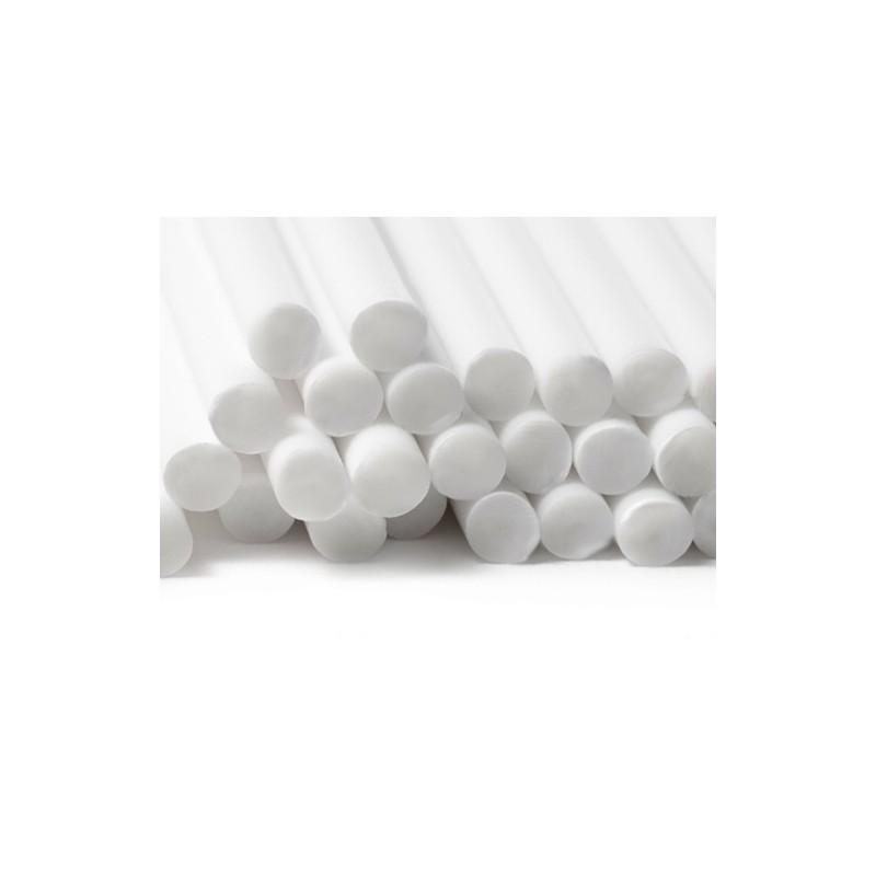 Plastic sticks white (5 x 230mm)