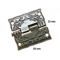 Mini antiek scharniertje (26mm x 23mm)