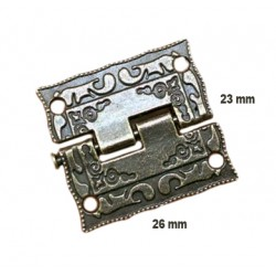 Mini antique hinge (26mm x 23mm)