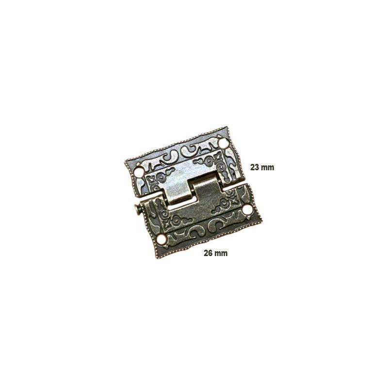 Mini antikes Scharnier (26mm x 23mm)