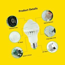 Lampe + Bewegungsmelder, weiß