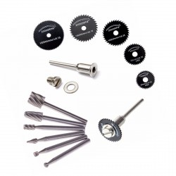 Mini (dremel) milling cutters and saw blades set