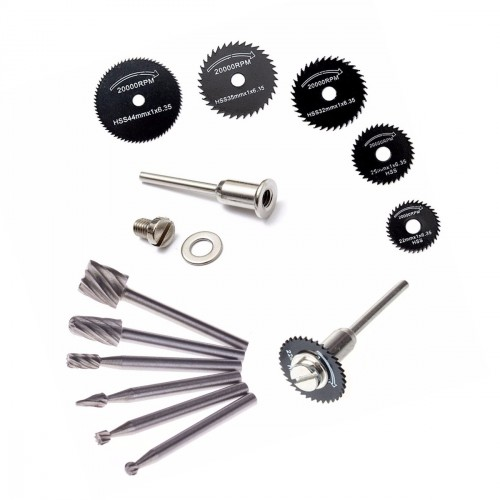 Mini (dremel) milling cutters and saw blades set