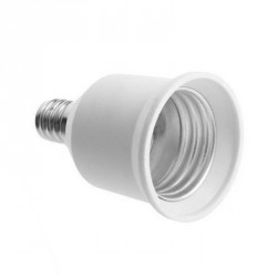 Lighting socket adapter e12 to e27, type HC