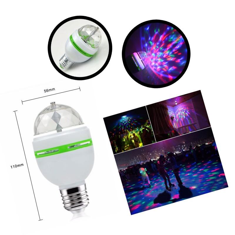 E27 rotierende Disco-Lampe