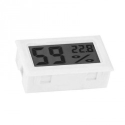 LCD indoor temp. and humidity meter white