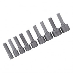 Hex socket sleeve bits (9 pieces)