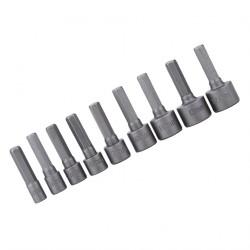 Zeskant dopsleutel bits (9 stuks)