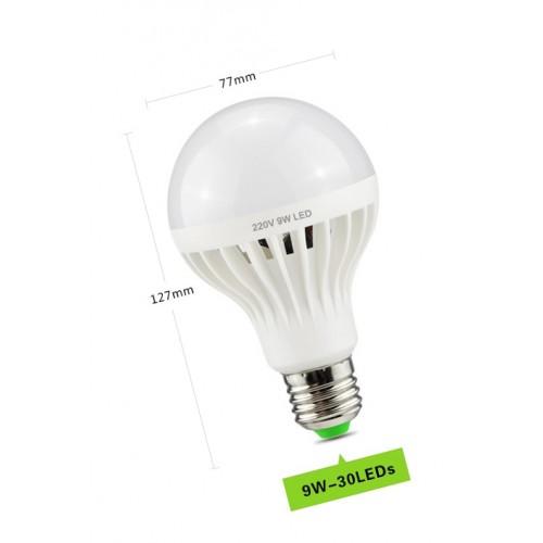 E27 led lamp met geluidssensor (9 watt)