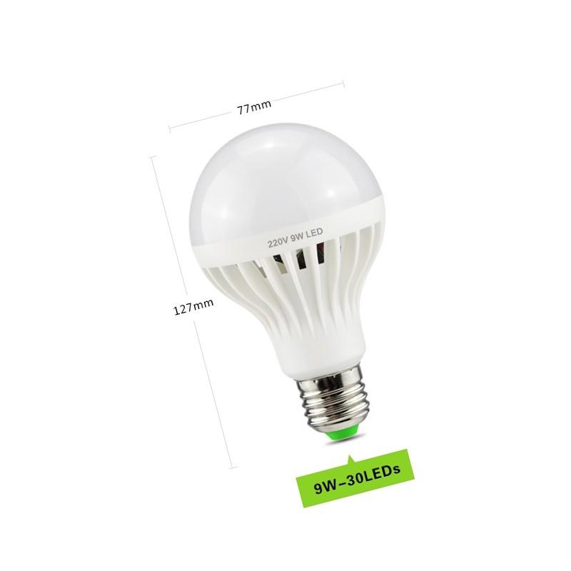 e27 led lampe mit akustik sensor 9 watt wood and tools. Black Bedroom Furniture Sets. Home Design Ideas