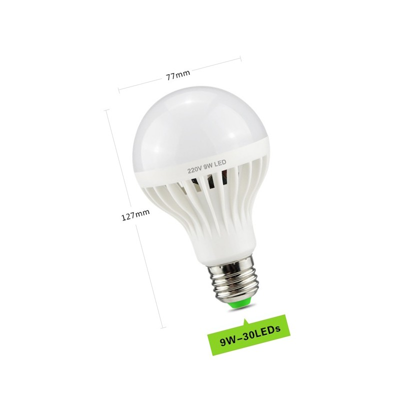 E27 led light with sound sensor (9 watt)