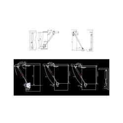 Gasdrukveer (gasveer) 100N/10kg, 250mm, zilver