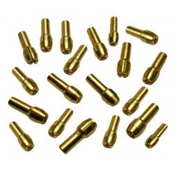 Set spantangen (10 stuks) voor o.a. dremel (4.8 mm)