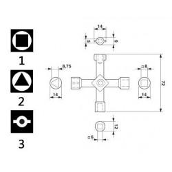 Service utility key 4 in 1