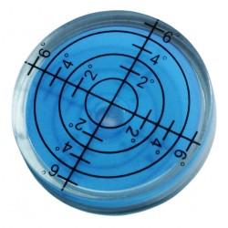 Runde Wasserwaage 32x7 mm blau