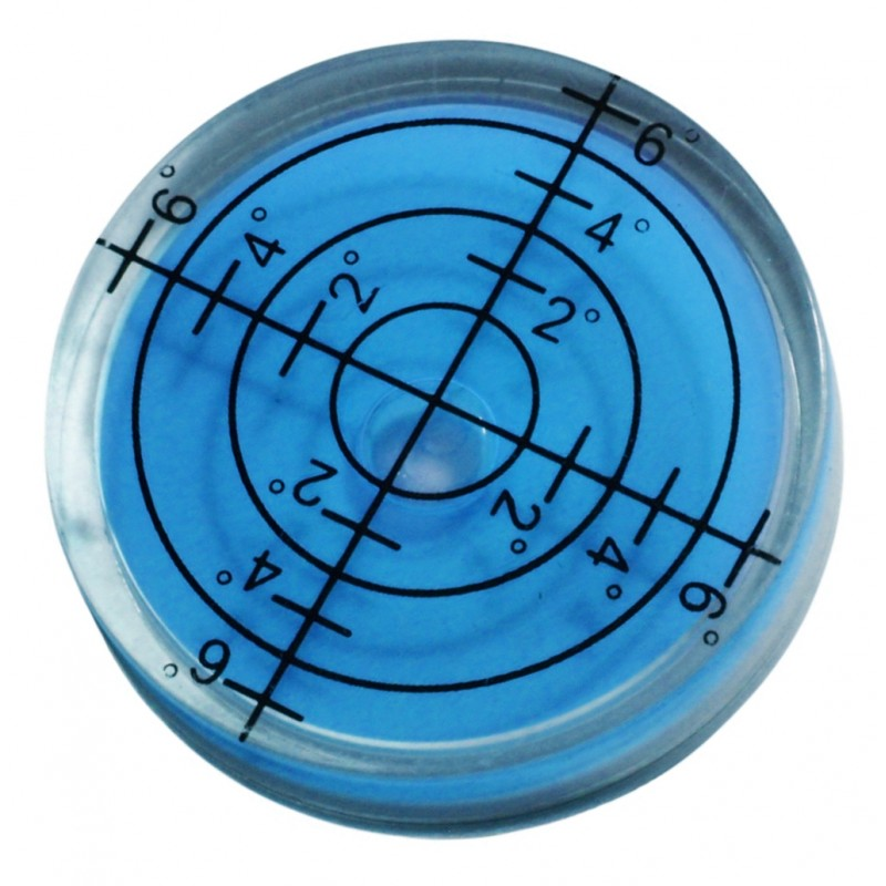 Round bubble level tool 32x7 mm blue