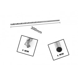 Metal drill bit 4mm extreme length (300mm!)