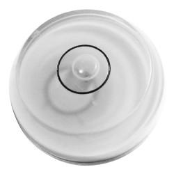 Round bubble level tool white, chamfered
