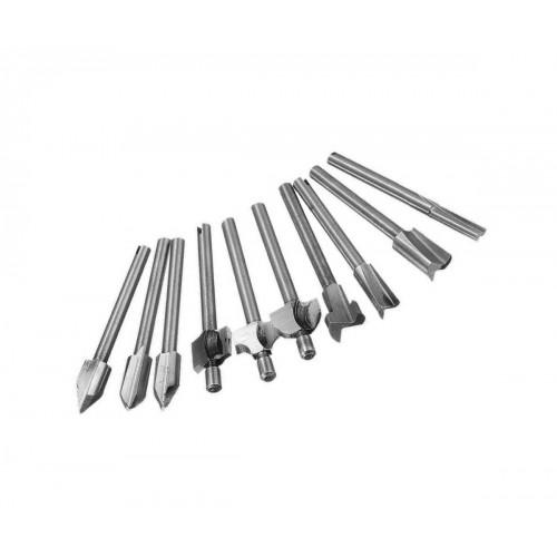 Set mini (dremel) milling cutters 3.175mm (10 pcs)