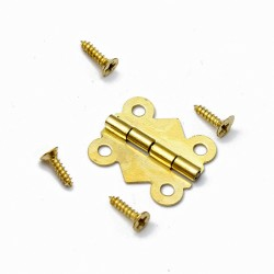 Mini metal hinge (20mm x 17mm), gold color