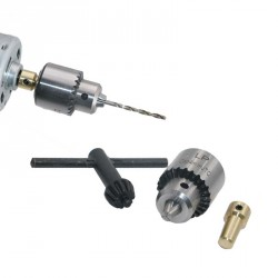Mini drill chuck 0.3 - 4.0 mm with shaft