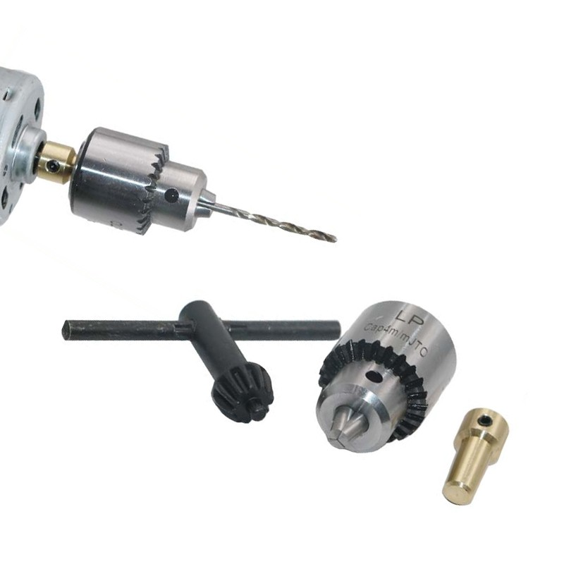 Mini drill chuck 0.3 - 4.0 mm with shaft