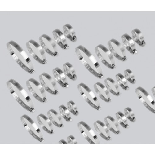 40 pieces hose clamps (12 - 40mm diameter)