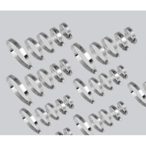 40-teilige Box mit Schlauchschellen, 12 bis 40mm Durchmesser