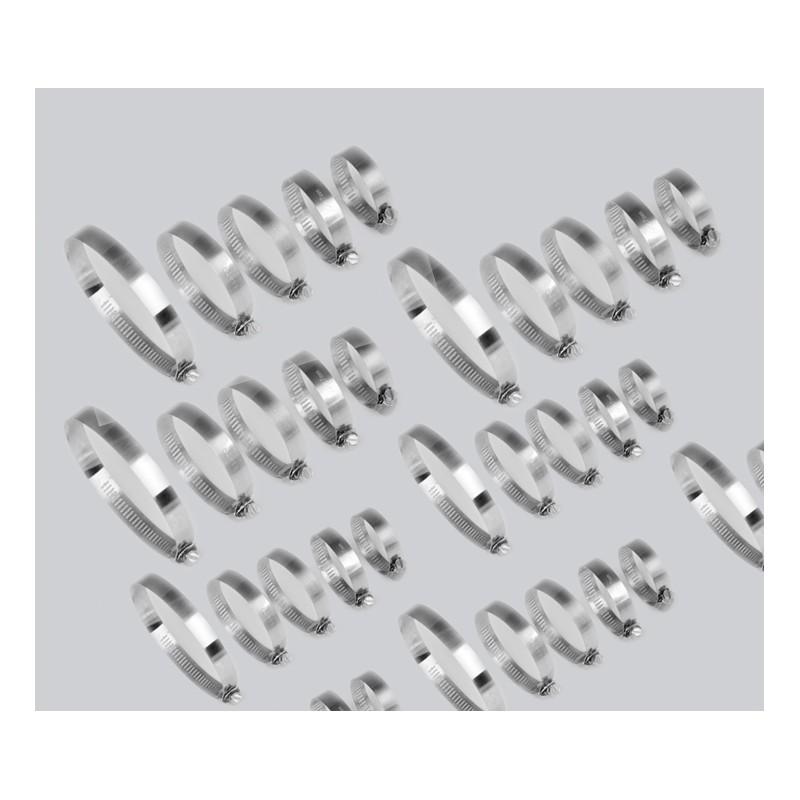 40 delige box met slangklemmen, 12 tot 40mm diameter