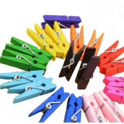 100 pieces colored micro clothes pins (25 mm)