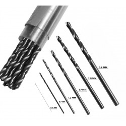 HSS metal drill bit 0.8x100 mm