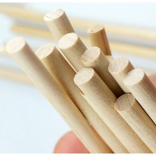 5 x 110mm houten stokje (berkenhout)