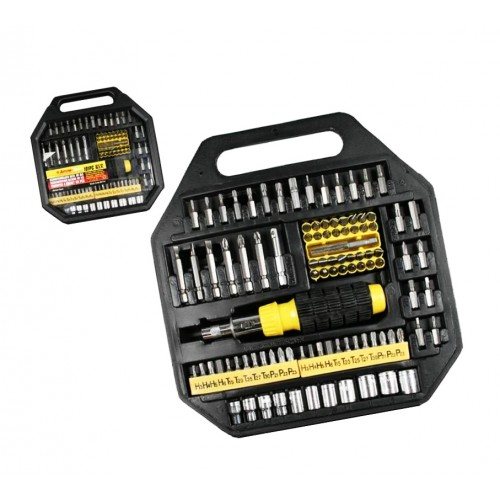 101 parts socket bit set with screwdriver