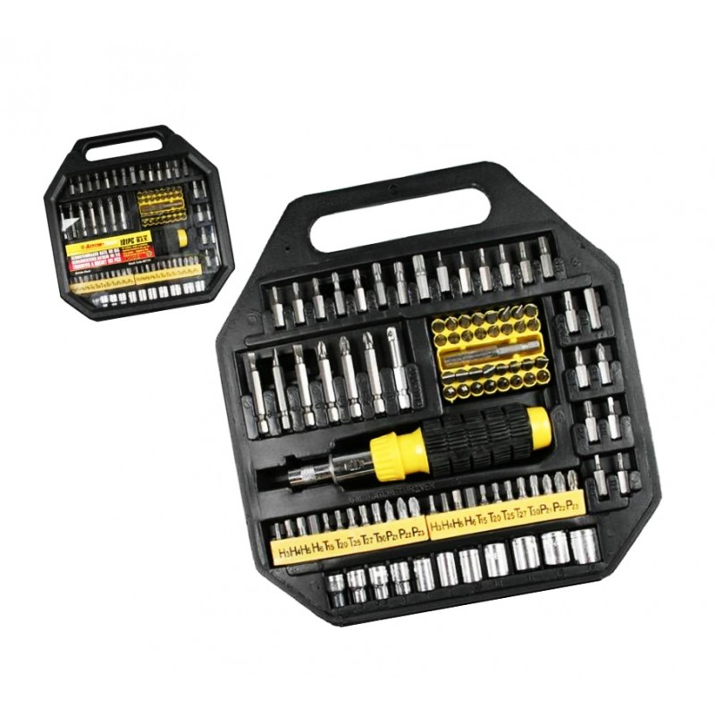 101 parts socket bit set with screwdriver