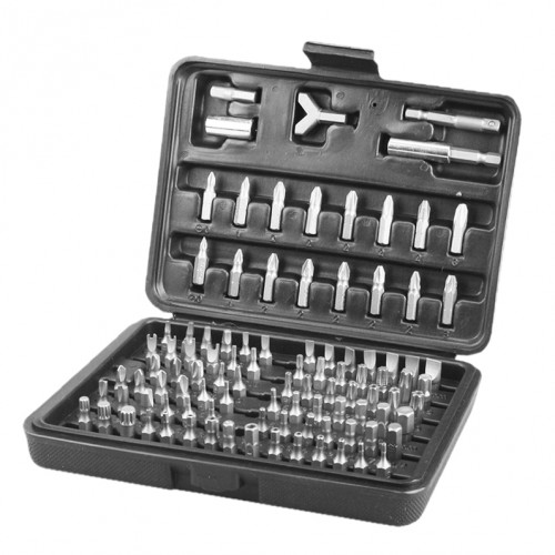 Complete set HSS bits and accessories (100 pieces)