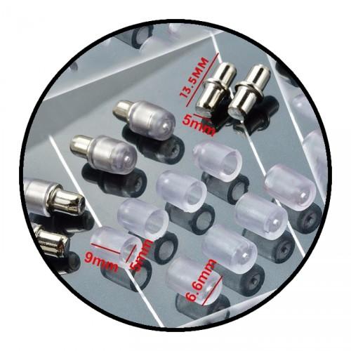 Regalhalter mit Schutz für Glasplatte, 5x13,5mm