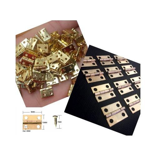 Set of 80 pieces mini copper hinges