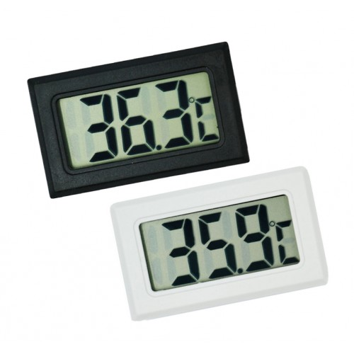 LCD indoor temperature meter black