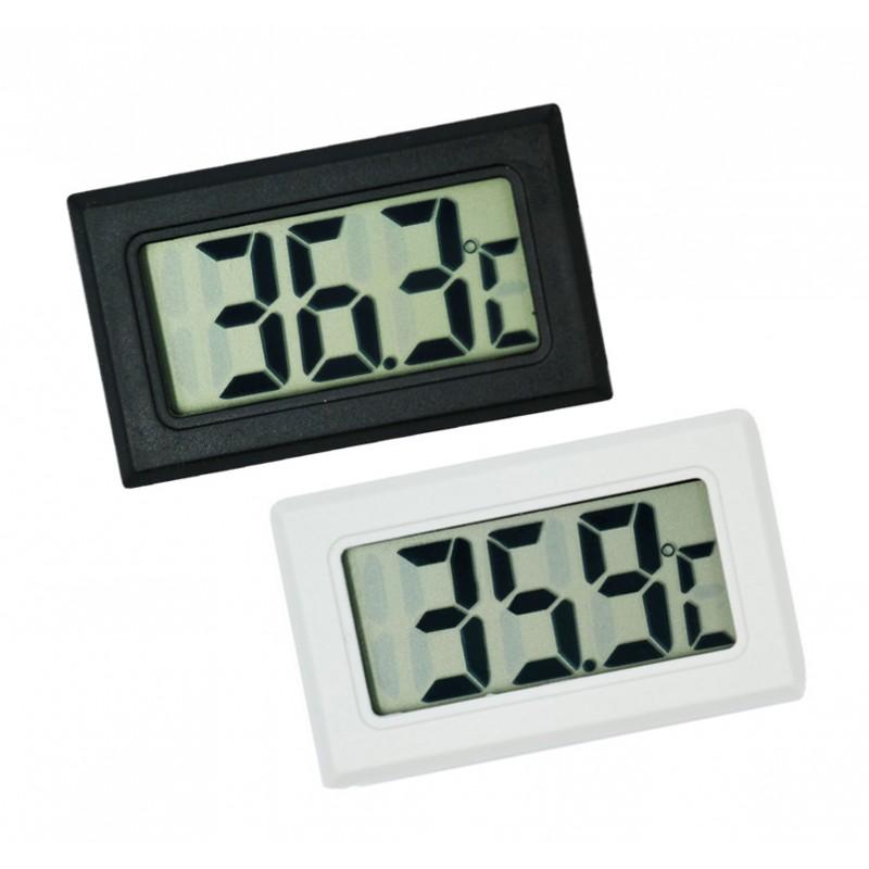 Meter voor temperatuur, thermometer zwart LCD