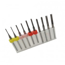 Micro milling cutters set in box (0.8 - 1.8 mm)