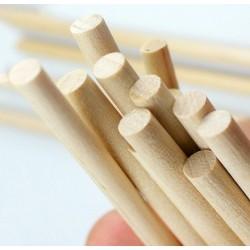 100 stuks houten stokjes (5x110mm, berkenhout)
