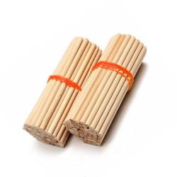 5mm x 110mm houten stokjes (berkenhout)